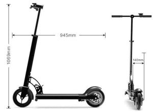2 Wheel 8 Inch Lithium Battery Folding Electric Scooter