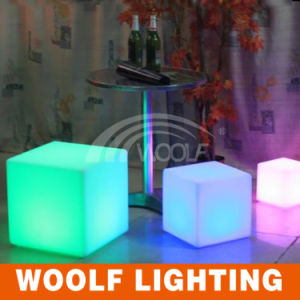 Glow Leisure Sofa and Chair with LED Color Light Cube