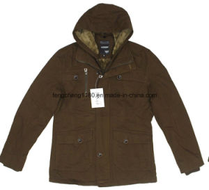 Man Winter Casual Cotton Washing Jacket with Waterproof