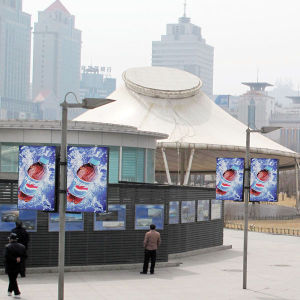Outdoor Roadside Double Side Banner Lamp Pole Light Box pictures & photos