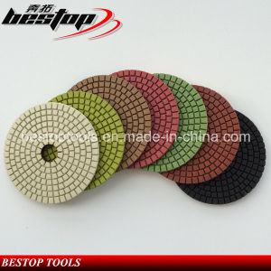 D100mm Economy Resin Bonded Concrete Flexible Polishing Pads pictures & photos