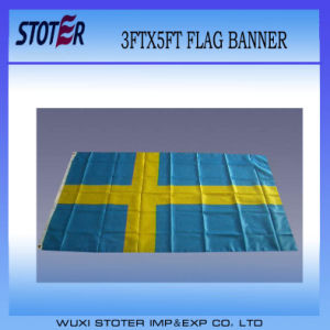 Cheap Custom 100%Polyester Sweden Nation Flag