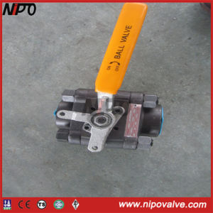 ANSI Three Pieces NPT Threaded Ball Valve pictures & photos