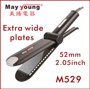M529 Newest Super Wide Titanium Plate Hair Straightener pictures & photos