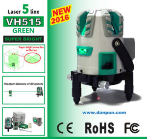 Survey Instruments Danpon Rechargeable Five -Line Green Beam Laser Level Vh515 pictures & photos