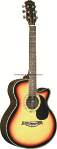 40′′ Rosewood Cutaway Acoustic Guitar pictures & photos