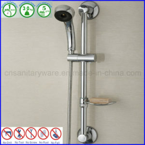 Chrome Hand Held Shower Slide Rail Wall Bar With Suction Cup
