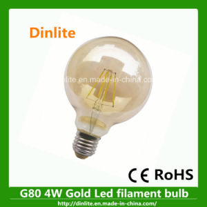 G80 4W Gold Practical and Cheap LED Light Bulb pictures & photos