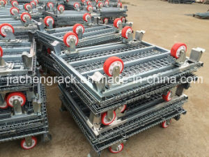 Galvanized Wire Mesh Carts with Wheels pictures & photos