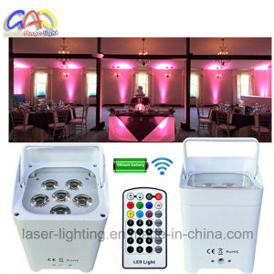 Wedding Stage LED Mini Party Light 6pcsx18W Rgbwauv Aluminium LED Flat PAR Can DJ Club Party 6pcsx18W Rgbwauv Aluminium LED Flat PAR Can DJ Club Party Stage pictures & photos