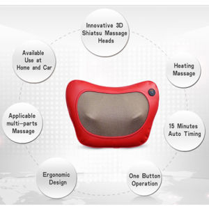 Patent Body Massager 3D Shiatsu Massage Cushion with Ce RoHS IEC pictures & photos
