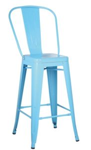 High Back Bar Stool/ Bar Chair/ Metal Chair with Backrest pictures & photos