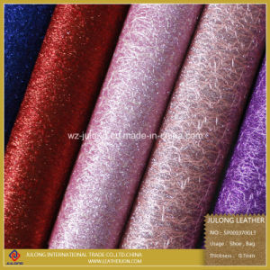 Glitter Fashionable Synthetic Leather (SP001) pictures & photos