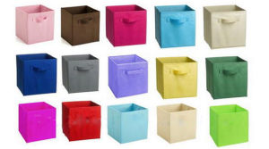 Non Woven Fabric Folding Storage Box OEM Non Woven Fabric Foldable Storage  Box