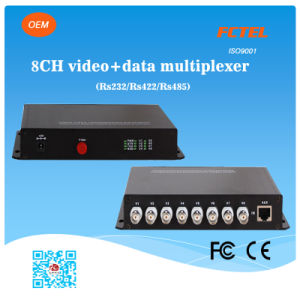 Transceiver of 8 Channel Video Multiplexer with 1 Channel Reverse Data