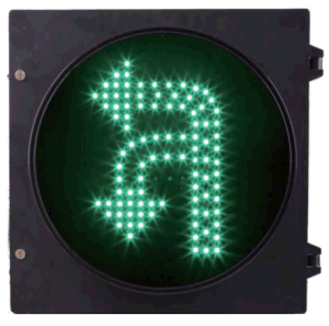Turn Round/Left U Turn LED Traffic Light Green Color 12 Inch