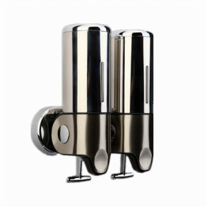 500ml*2 Stainless Steel Wall-Mountained Liquid Soap Dispenser