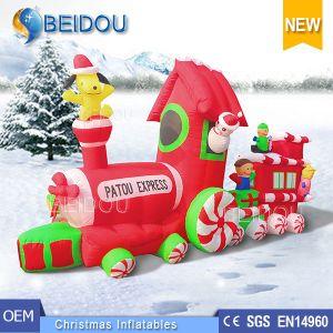 wholesale custom christmas decorating ornaments inflatable christmas train