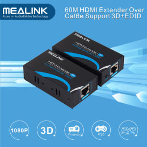 60m HDMI Extender Over Single Cat5e/6 UTP Cable with 3D+Edid HDMI Extender pictures & photos