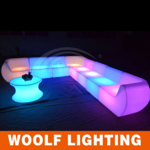 Modern Light up Party Round LED Plastic Sofa