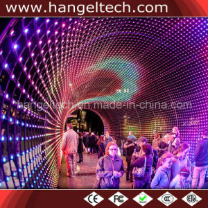 Outdoor P100mm Full Colour Flexible Curtain LED Mesh Display