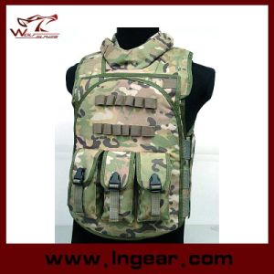 Multi Function Airsoft Tactical Vest Combat Four in One Vest pictures & photos