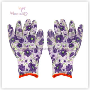 13gauge Nitrile Dipped Polyester Women Safety Work Gloves for Gardening pictures & photos