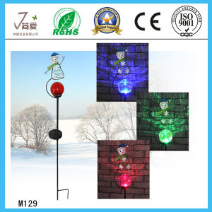 Snowman Solar Iron Art and Crafts for Garden Decoration