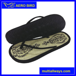 e911b246c2a9dc China Women Straw Mat Flip Flops with Electronic Embroidery - China ...