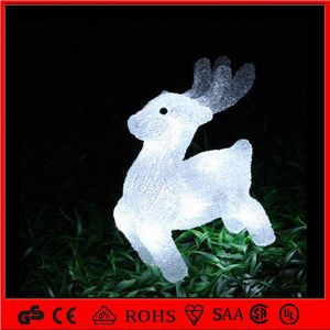 24V 3D LED Christmas Acrylic Reindeer Motif Light for Outdoor Decoration