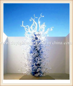 Multicolour Tree Blown Decoration Glass Sculpture