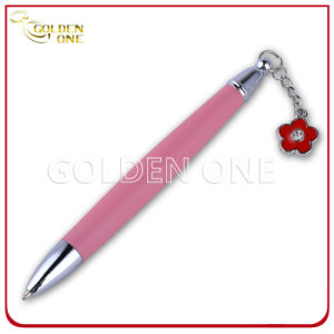 Hot Selling Ball Point Pen with Little Metal Flower pictures & photos