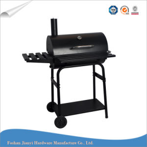 Outdoor Barrel Barbeque Charcoal Grill with Side Shelf