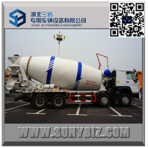 HOWO 12 Wheeler 14 M3 Cement Mixer Truck