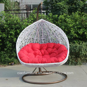 Leisure Outdoor Furniture Garden Double Wicker/Rattan Swing Chair