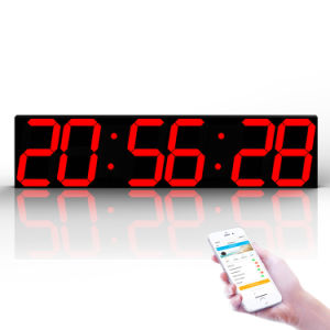 WiFi Digit Wall Alarm Clock Temperature Sensor Size 69.5X16X2cm