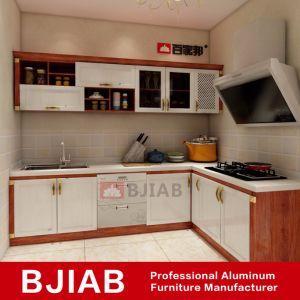China Golden And White Oak Modern Metal Furniture Aluminum Kitchen
