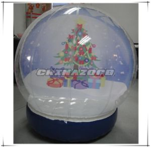Mini Size Inflatable Snow Globe Christmas Decoration for Sale