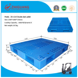 EU Standard Pallet 1200*1000*150mm Heavy Duty Grid Double Deck HDPE Plastic Pallet for Warehouse Products (ZG-1210) pictures & photos