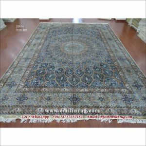 Oriental 100 Handmade Qum Silk Rug Hand Knotted Carpet 10x14 Large Area Rugs Red 240l