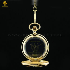 Golden Plating Pocket Watch Customize, Custom Made Pocket Watch