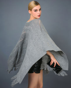 Lady′s Fashion Poncho pictures & photos