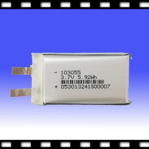 Lithium Polymer Battery Cell for Power Bank/Mobile Phone 3.7V 1600mAh (103055)