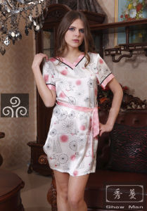Summer Sexy Dress/ Silk Pajamas/Sleepwear (QX-5S28)