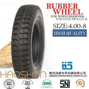 Hand Truck Tyre Trolley Tyre Pneumatic Barrow Rubber Wheel Tire 4.00-8 pictures & photos