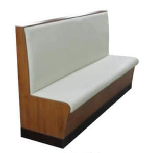 White Wooden Timber Waterproof Base Restaurant Bench Seat pictures & photos