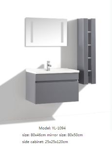 Bathroom Cabinet MDF Furniture with Mirror