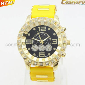Trendy Silicone Watch for Men with Stones (SA1912)