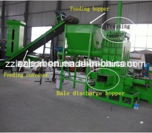 Competitve Price Hydraulic Wood Shaving Baling Machine pictures & photos