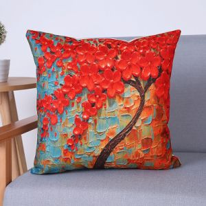 Digital Print Decorative Cushion/Pillow with Botanical&Floral Pattern (MX-63) pictures & photos